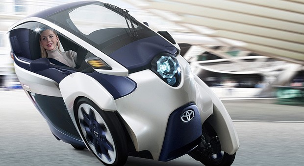 Toyota iRoad EV concept leans like a motorcycle, minus the fuel bills and rain