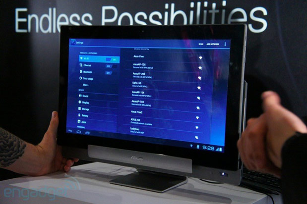 ASUS Transformer AiO in Android mode