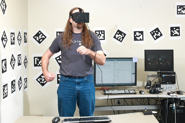 Playing an actual game with Oculus Rift handson with Valve's Team Fortress 2 'VR Mode'