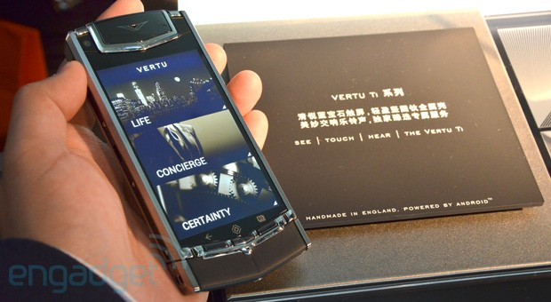Vertu TI bling phone lands in Hong Kong, we go handson video