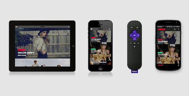 Vevo TV now streams music 247 to mobile devices, the web, Xbox and Roku