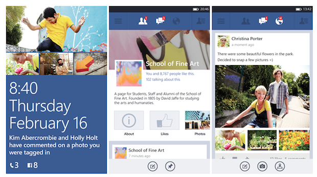 Microsoft's next revision of Facebook for Windows Phone 8 hits beta