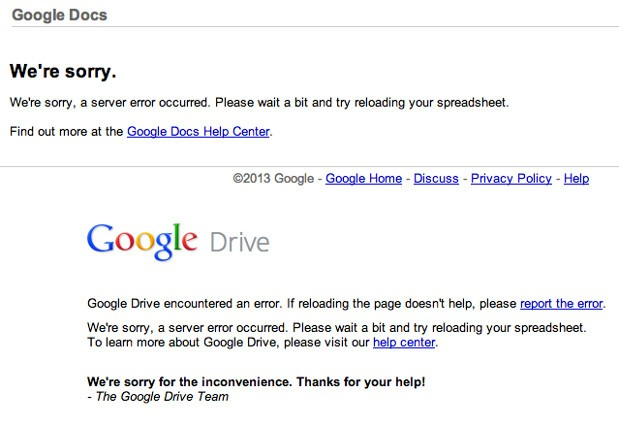 Google Apps down for some