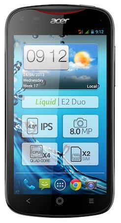 Acer announces Liquid E2 smartphone with quadcore processor, optional dual SIM slots