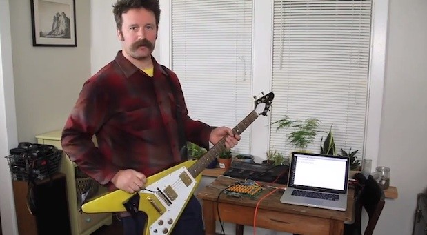 Arduinoenhanced guitar promises less typing, more shredding