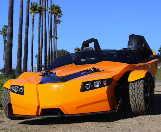 Epic Torq Roadster threewheeled EV gets taken on a test drive video