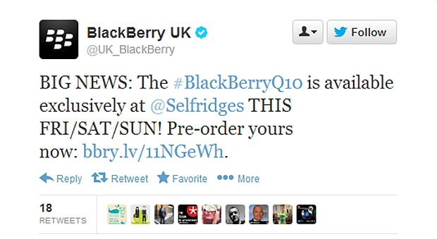 Selfridges gets exclusive threeday UK Blackberry Q10 window, grab it for 580 starting this Friday