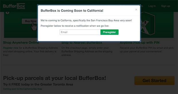 Google's BufferBox delivery