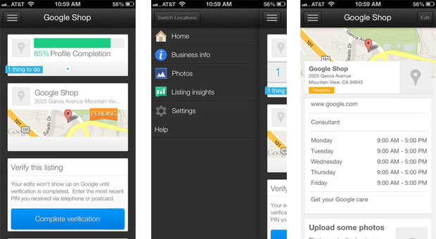 Google's new Places for Business app lets you verify and update your listing on your iPhone