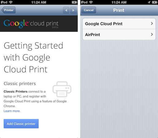 Chrome for iOS gets Google Cloud Print, Air Print and fullscreen capability