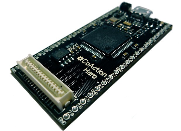 CoAction Hero board comes with its own OS, simplifies desktop coding video
