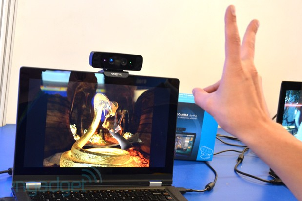 Handson with Creative's Interactive Gesture Camera at IDF Beijing 2013 video