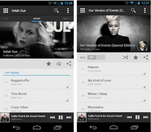 Deezer for Android gets
