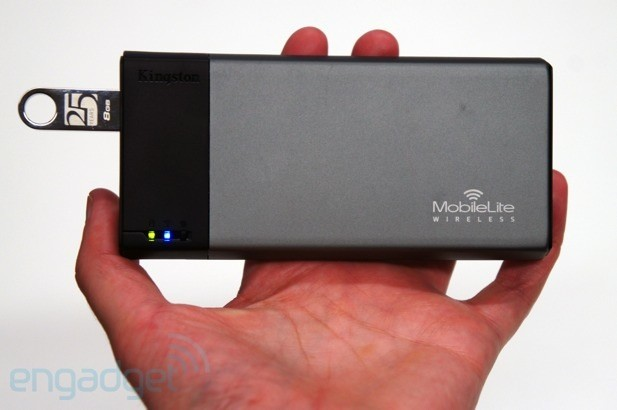 Kingston's MobileLite Wireless is a memory card reader that doubles as a charger