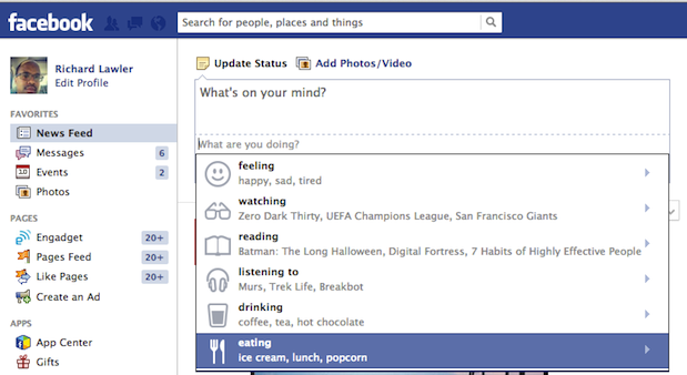 DNP Facebook to let you express what you're consuming with linked pages