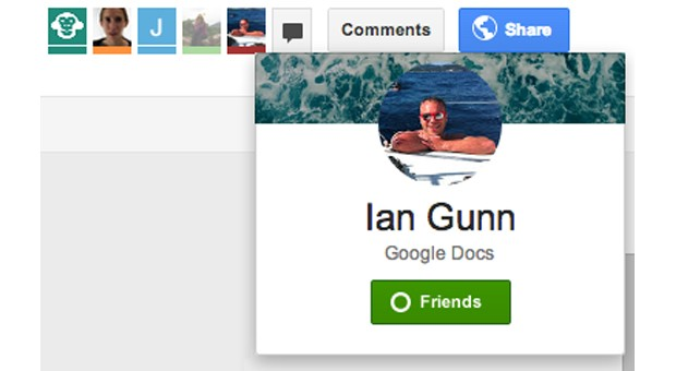 Google Drive now lets collaborators add friends, start chats with one click