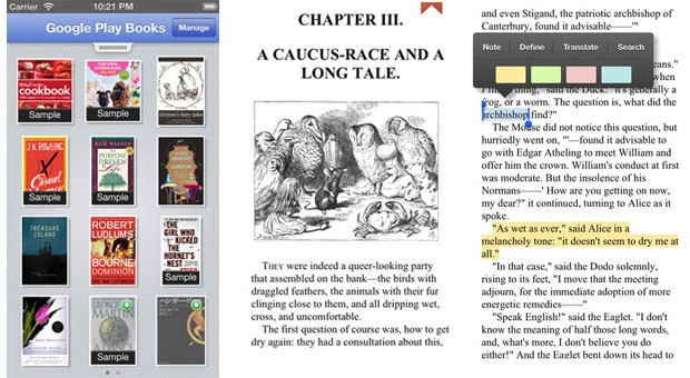 Google Play Books for iOS catches up to Android version with mapping info, user guide