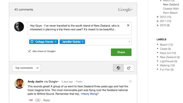 Google extends its reach into Blogger comments