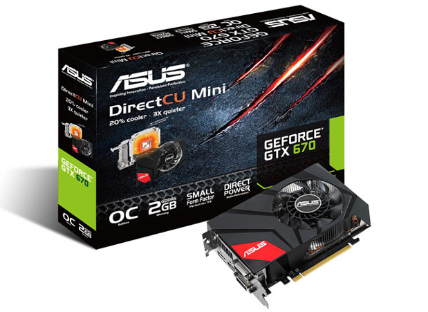ASUS unveils GeForce GTX 670 DirectCU Mini graphics card destined for little rigs