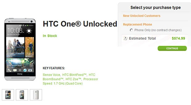 HTC's One pops up on its site with unlocked SIM and bootloader for $  575