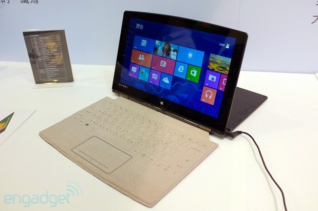 Inhon Carbon Tablet unfolds for overclocking, carries a Surfacestyle touch keyboard