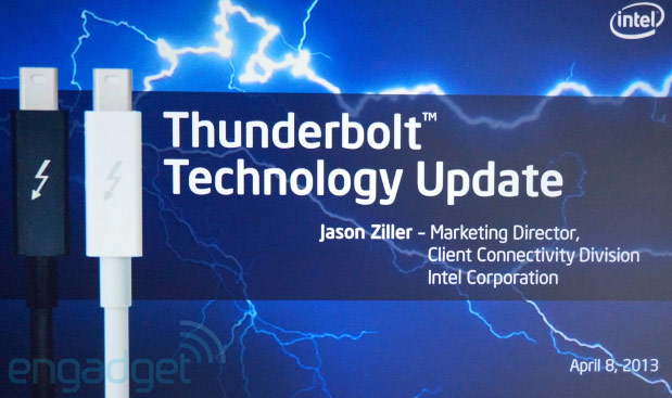 Intel announces next-gen Thunderbolt with 20 Gbps throughput