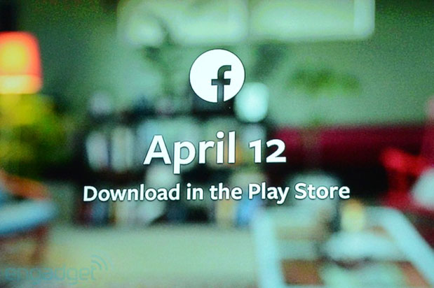 Facebook Home to hit select phones on April 12th in the US