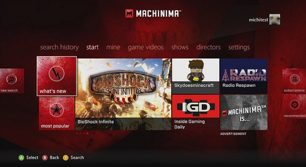 Machinima launch for Xbox 360 has us watching more games than we play