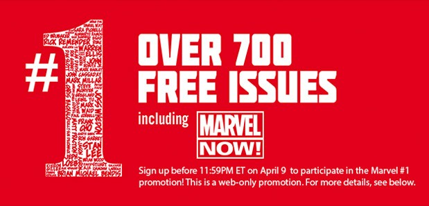 Marvel giving away over 700 free first issue digital comics for real, totally seriously this time
