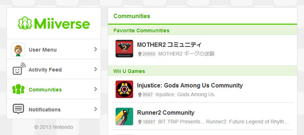 Nintendo's Miiverse gets mobile access, web interface