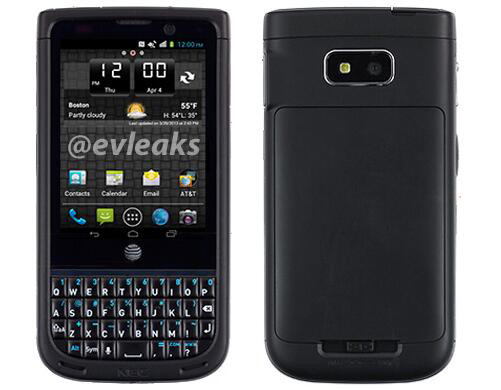NEC Terrain for AT&T spied in leaked press photos, packs a  QWERTY keyboard