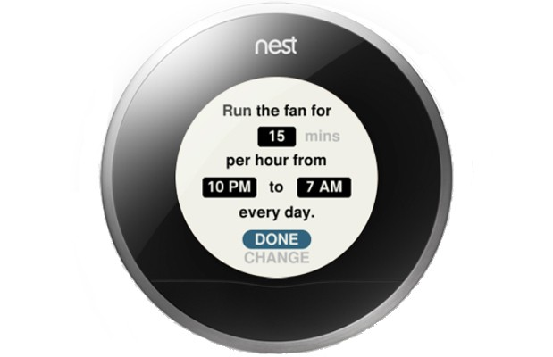 Nest 35 update adjusts for sunlight and humidity, finetunes fan control