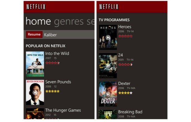 DNP Netflix for Windows Phone 8 updated with 720p display support