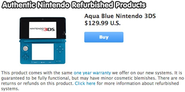 Nintendo now selling refurbished DSi XL and 3DS units for $100 and up