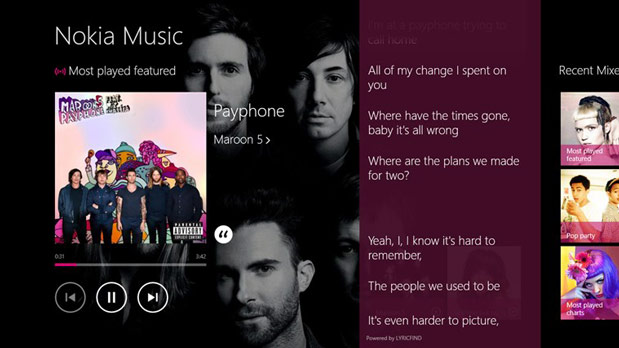 Nokia Music app launched for Windows 8 and RT hardware