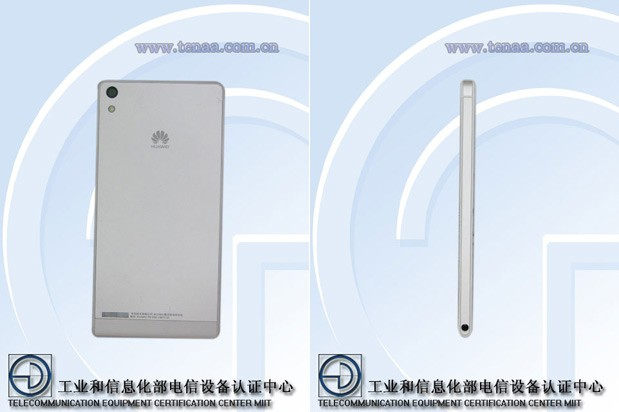 DNP Unknown Huawei P6U06 shows off its slim profile at China's certification agency