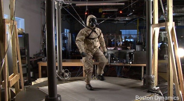 Boston Dynamics' Petman robot successfully wears clothes video