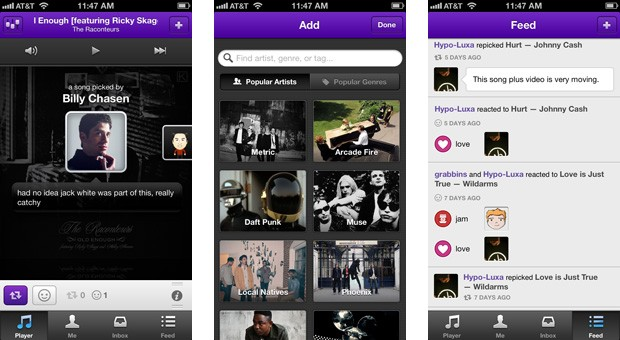 Turntable.fm&#8217;s Piki for iOS shapes streaming music around friends&#8217; tastes