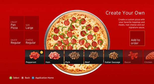 Pizza Hut app coming to Xbox 360 owners it was inevitable, really