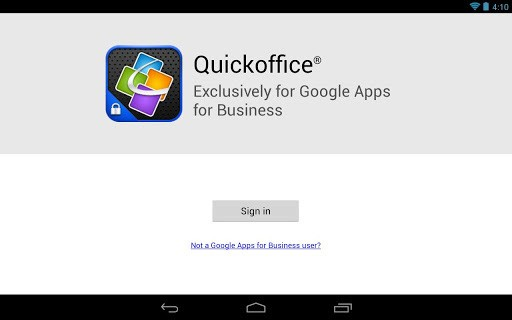 Quickoffice on Android and