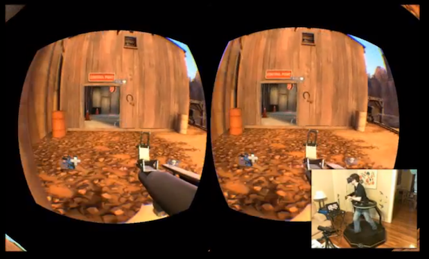 Virtuix hooks up Oculus Rift 