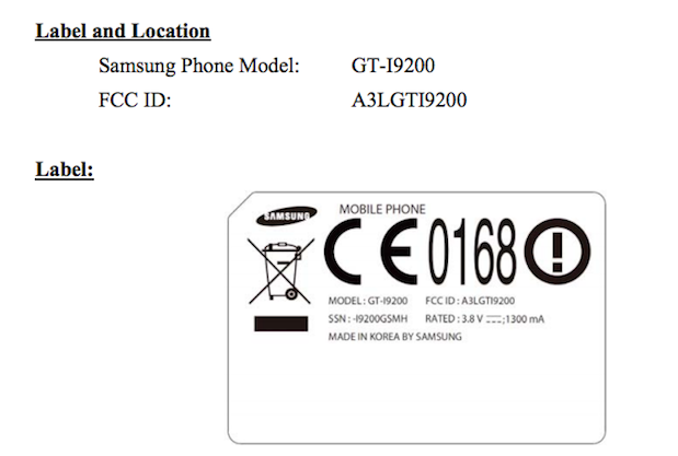 Samsung Galaxy Mega 6.3 hits the FCC, sports AT&T compatible HSPA+