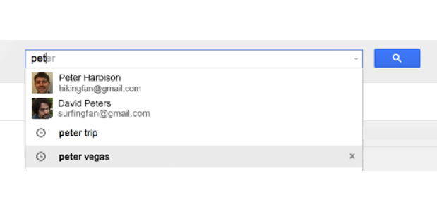 Gmail autocomplete updated
