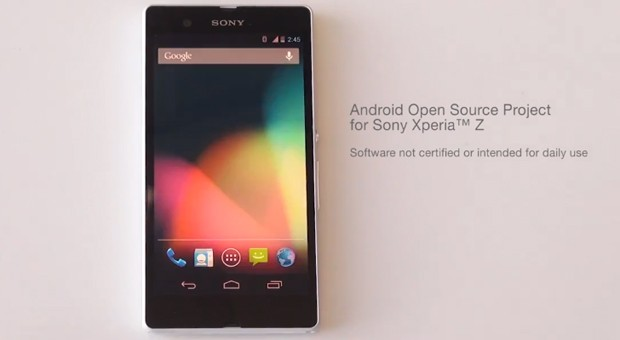AOSP comes to the Xperia Z through Sony's GitHub video