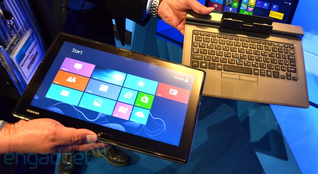 Toshiba's upcoming detachable Ultrabook debuts at IDF 2013 Beijing handson