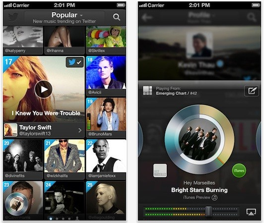 Twitter launching #Music app for iPhone alongside new service today update now live