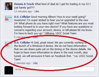 US Cellular announces its intent to carry Windows Phone 8 devices