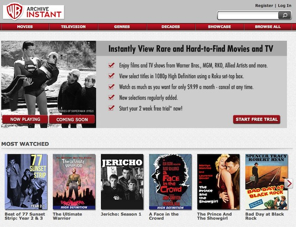 Warner Archive Instant launches, brings classic movie streaming subscription to PCs, Roku