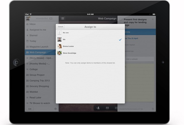 Wunderlist Pro goes live for iOS, Mac and web, priced at $  50 per year (video)