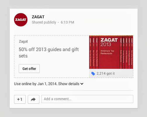 Google Offers comes to Google+ with in-line save and share feature